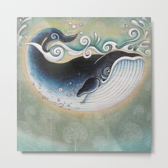 the Blue Whale Metal Print