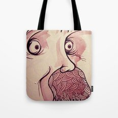 In Your Face Mr. Moustache Tote Bag