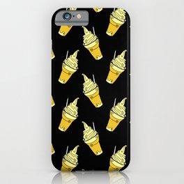 Kawaii Pineapple Floats on Black iPhone Case