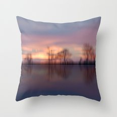 Calm. Reflections Throw Pillow