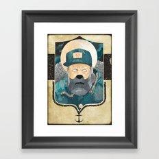 Modern day Pirate. Framed Art Print
