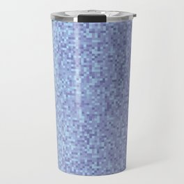 Light Lilac Pixilated Gradient Travel Mug