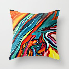 My Very Eva 1st 'WATER~COLOR' painting Throw Pillow
