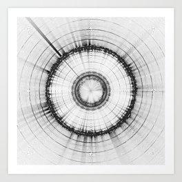 Collage 2 of Earth, Sputnik-1 & Sun Art Print