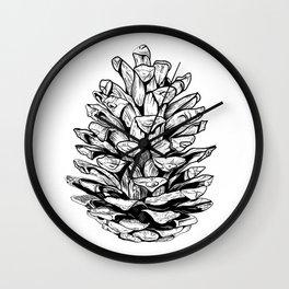 Pine cone illustration Wall Clock
