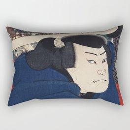 Mukojima Miyamoto Musashi by Utagawa Kuniyoshi (1753-1806) a traditional Japanese ukiyo-e style port Rectangular Pillow
