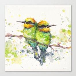 Family (Rainbow Bee Eaters) Canvas Print