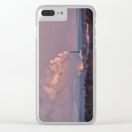 Full Moon Setting at Dawn (2) Clear iPhone Case