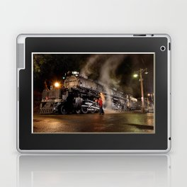 Inspecting With Lantern. Light Streak. UP 4014. Union Pacific. Steam Train. Big Boy. © J. Montague. Laptop & iPad Skin