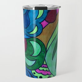 Abstract colourful artwork Travel Mug