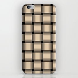 Large Bisque Brown Weave iPhone Skin