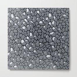 Organic Extrusion Black & White 1 Metal Print