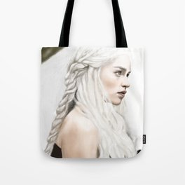 Emilia Clarke Digital Painting Tote Bag