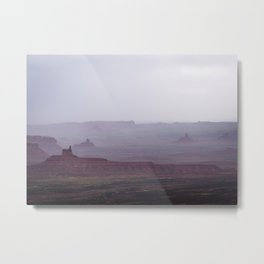 Rain in the Valley of the Gods Metal Print