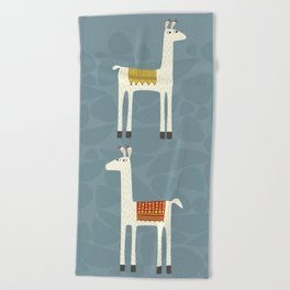 Everyone lloves a llama Beach Towel