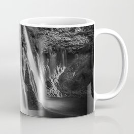 Burney Falls in Black and White Coffee Mug