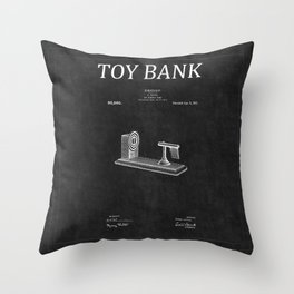 Toy Bank Patent 8 Throw Pillow