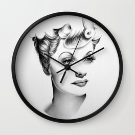 Lucille Ball Minimal Portrait Wall Clock