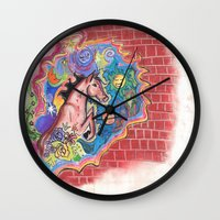 swan Wall Clocks featuring swan  by Spirit Candy