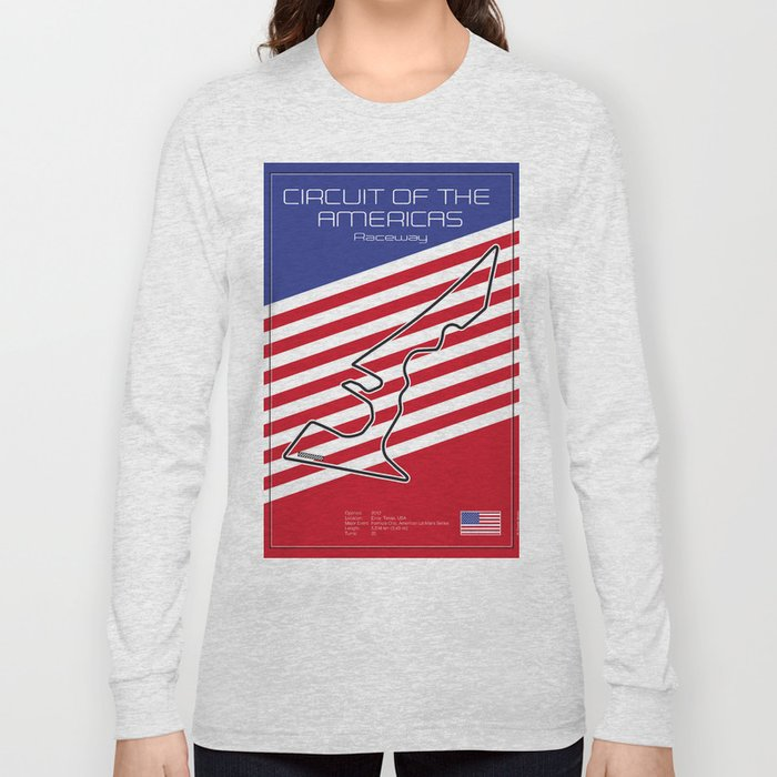 Circuit of the Americas, Austin Texas Long Sleeve T-shirt