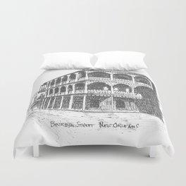 Bourbon St, New Orleans Duvet Cover