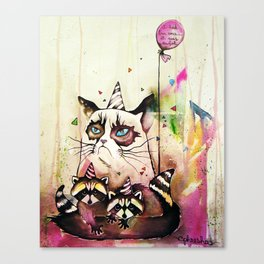 Surly Cat & Friends Canvas Print