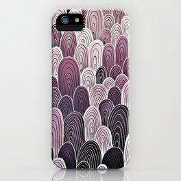 Purple Mermaid Scales iPhone Case
