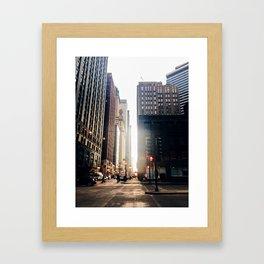 Chicago Street Commuter Framed Art Print