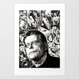 Stephen King by Anna Helena Szymborska Art Print