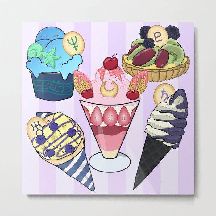 Outer Senshi Sweets Metal Print