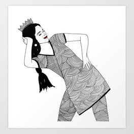Bollywood Queen Art Print