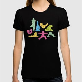 Rainbow Yoga Pattern T-shirt