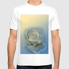 rose 2 White MEDIUM Mens Fitted Tee