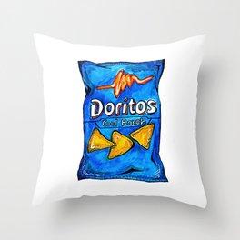 Cool Ranch Doritos Throw Pillow
