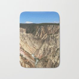 Yellow Rocks Of Yellowstone River Valley Bath Mat
