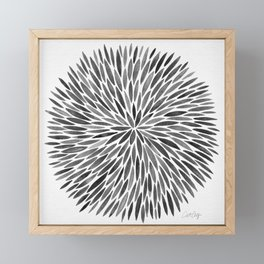 Blackened Burst Framed Mini Art Print