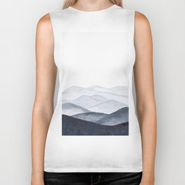 Watercolor Mountains Biker Tank