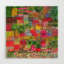 Color Town Wood Wall Art