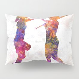 women playing softball 01 Pillow Sham