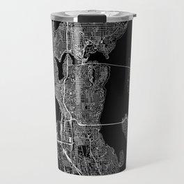 Seattle Black Map Travel Mug