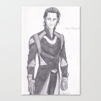 burdge Canvas Prints featuring God of Mischief by Burdge