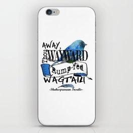 Rump-fed Wagtail iPhone Skin