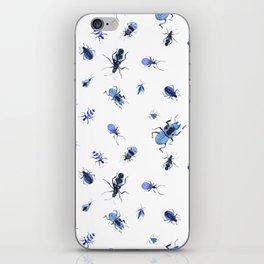 Blue bugs iPhone Skin