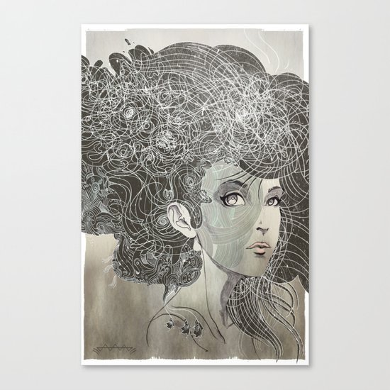She Wants Clouds Canvas Print