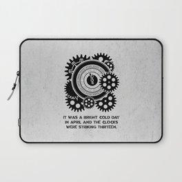 George Orwell - 1984 - Clock Striking 13 Laptop Sleeve