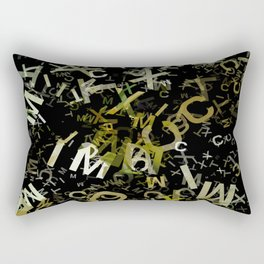 Pale Yellow Poinsettia 1 Letters 1 Rectangular Pillow