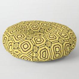 Black and Yellow Geometric Pattern Floor Pillow