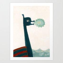 Dragon Boat's Breath Art Print