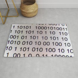Binary code on a computer screen Rug
