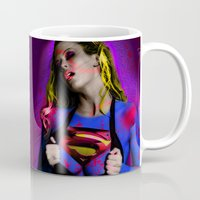 supergirl Mugs featuring Supergirl by EarlyHuman